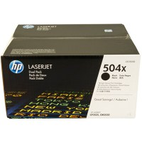 Toner HP 504A CE250XD black dual pack