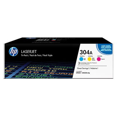 Toner HP 304A CF372AM C/M/Y 3pack