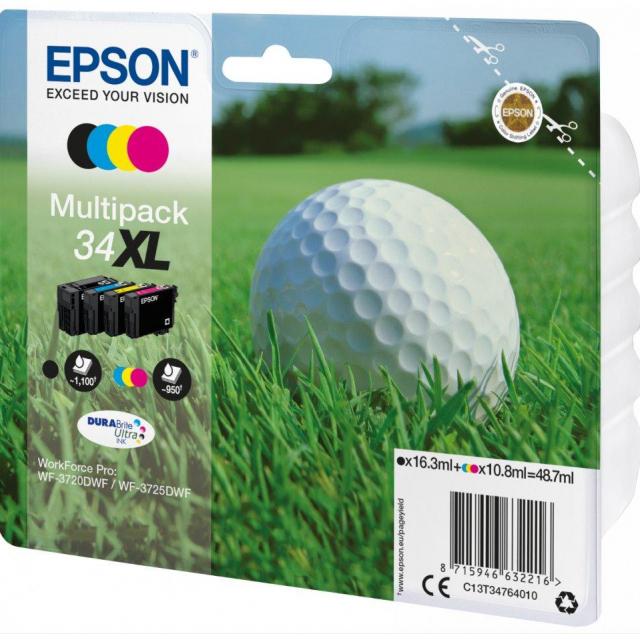 Inkoust Epson 34XL C13T34764010 CMYK multipack